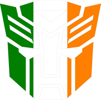 Irish Flag Autobot Decal / Sticker 06