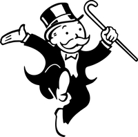 Rich Monopoly Man Decal / Sticker 01