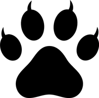 Cat Paw Print Decal / Sticker 01