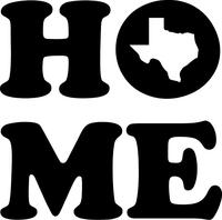 Texas Home Decal / Sticker 01