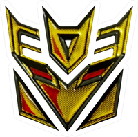 Gold Decepticon Decal / Sticker 43