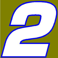 2 Race Number Euromode Bold Font 2 Color Decal / Sticker