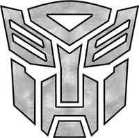 Sanded Aluminum Autobot 11 Decal / Sticker 03