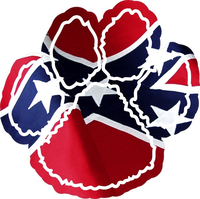 Confederate Flag Dog Paw Decal / Sticker 02