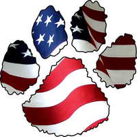 American Flag Dog Paw Decal / Sticker 03