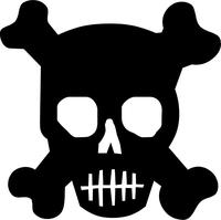 Skull and Cross Bones Decal / Sticker 10