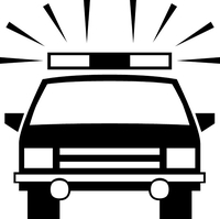 Police Car Decal / Sticker 02