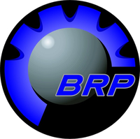 Blue BRP Decal / Sticker 06