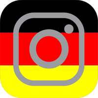 German Flag Instagram Decal / Sticker 07