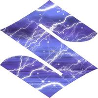 Blue Lightning Suzuki logo Decal / Sticker
