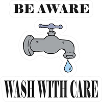 Beware Wash With Care Decal / Sticker 09
