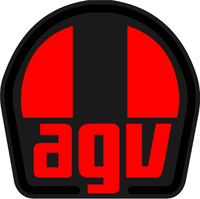 Black, Red, Gray AGV Sport Decal / Sticker 17