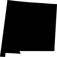 New Mexico Outline Decal / Sticker 01