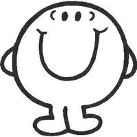 Mr. Happy Decal / Sticker 01