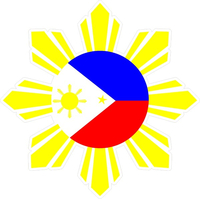 Filipino Sun Decal / Sticker 02
