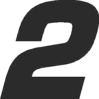 2 Race Number Euromode Bold Font Decal / Sticker