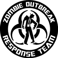 'Zombie Outbreak Response Team Decal / Sticker 04