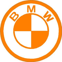 BMW Orange Decal / Sticker 08