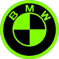 BMW Lime Green Decal / Sticker 14