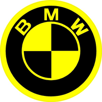 BMW Yellow Decal / Sticker 19