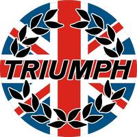 Triumph Wreath with British Flag Decal / Sticker 06