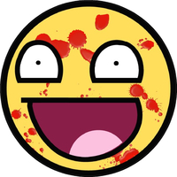 Crazy Happy Face Decal / Sticker 02
