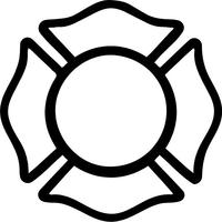 Fireman Maltese Cross Decal / Sticker 01