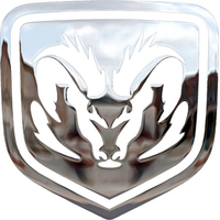 Simulated 3D Chrome Ram Decal / Sticker 29