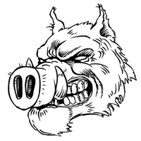 Razorbacks Mascots Decal / Sticker 7