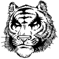 Tigers Mascot Decal / Sticker 5