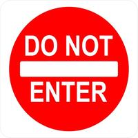 Do Not Enter Sign Decal / Sticker 01