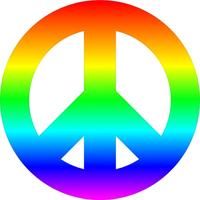 Rainbow Peace Decal / Sticker 01