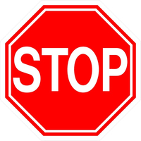 Stop Sign Decal / Sticker 01FC
