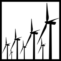 Windmill Decal / Sticker 04