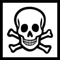 Skull and Cross Bones Decal / Sticker 07