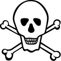 Skull and Cross Bones Decal / Sticker 13