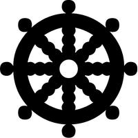 Boat Steering Wheel Decal / Sticker 01