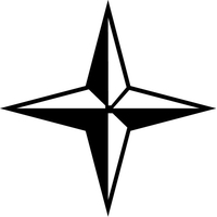 Christian Cross / Star Decal / Sticker 55