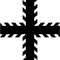 Christian Cross Decal / Sticker 89