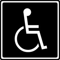 Handicapped Parking Decal / Sticker 07