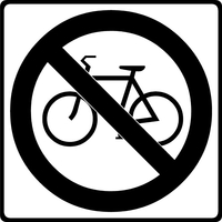 No Bicycles Decal / Sticker 01
