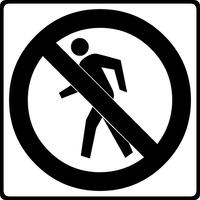 No Pedestrians Decal / Sticker 01