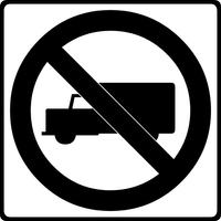 No Trucks Decal / Sticker 01