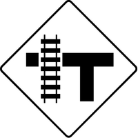 Railroad Crossing Decal / Sticker 01
