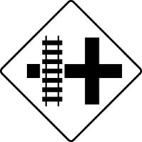 Railroad Crossing Decal / Sticker 02
