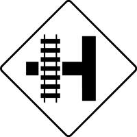 Railroad Crossing Decal / Sticker 03