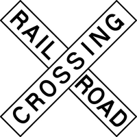 Railroad Crossing Decal / Sticker 04