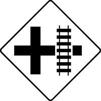 Railroad Crossing Decal / Sticker 06