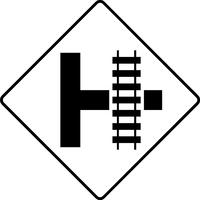 Railroad Crossing Decal / Sticker 07