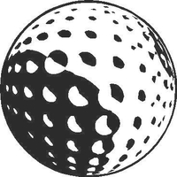 Golf Ball Decal / Sticker